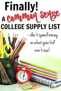 Many college supply lists are impractical. Don't buy what your student won't really use. This college supply list includes items for the dorm room and other school essentials.