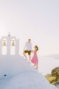 Consider this your virtual escape to a destination celebration on the romantic Greek island of Santorini.