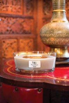 Fireside scented candles by Woodwick - evokes memories of cosy nights by a roaring fire.