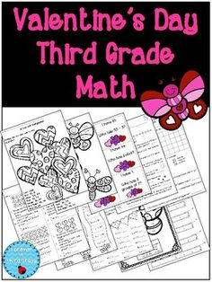 Games and Printables for Third Grade Valentine's Day. There are multiplication, measurement, geometry and graphing printables all with a Valentine's Day theme!There also is a Valentine's Day I Have... Who Has? game with multiplication and division and Valentine's Day Monkey Mayhem partner game reviewing multiplication or addition facts.Please see my other Valentine's Day and February products:Multiplication Fact Practice for FebruaryValentines Day Fraction Task CardsValentines Day…