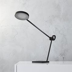 eiko matte black task lamp   CB2