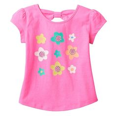 Toddler Girl Jumping Beans® Bow-Back Tee, Size: