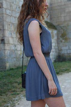 Chiffon summer dress by Mango