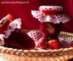 Domáci jahodový džem Raspberry, Strawberry, Homemade Jelly, Jam And Jelly, Dessert Recipes, Desserts, Food Hacks, Preserves, Waffles