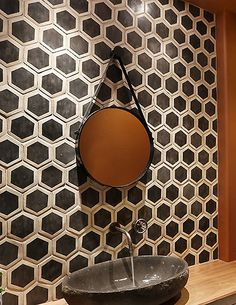 From our Palio collection. Hand painted terra-cotta hex. Classic meets contemporary.