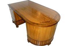 Alfred Baeck Art Deco Desk - One Kings Lane - Vintage & Market Finds - Furniture