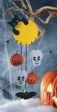 bricolage d'un mobile sur le thème de l'halloween