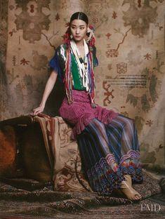 All of it Ji Hye Park featured in Bohemian Rhapsody, May 2012 Tribal Fashion, Colorful Fashion, Asian Fashion, Boho Fashion, High Fashion, Fashion Design, Fashion Models, Bohemian Style, Boho Chic