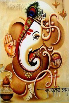 Ganesh More Ganesha Ganesha Drawing, Lord Ganesha Paintings, Ganesha Art, Krishna Painting, Krishna Art, Hare Krishna, Ganesha Pictures, Ganesh Images, Jai Ganesh