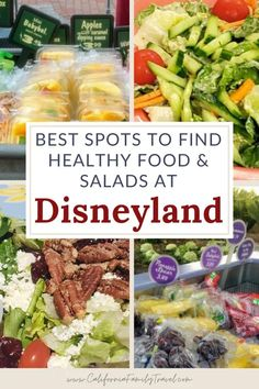 Eating healthy at Disneyland is a pretty easy thing to do! Disneyland offers many healthy food options, including vegan and vegetarian options at Disneyland, too! Here are the top spots to find great salads and other healthy food at Disneyland. Here are the top picks. #Disneyland #healthyeating Disneyland Dining, Disneyland Restaurants, Disneyland Food, Disney Food, Disneyland Vacations, Healthy Food Options, Vegetarian Options, Healthy Salad Recipes, Healthy Choices