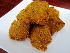 Best recipes for vegans: Vegan chick'n nuggets made with vital wheat gluten