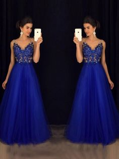Buy Sparkly V Neck Prom Dress Sexy Backless Evening Dress Tulle Long Prom Gown Online – jolilis Royal Blue Prom Dresses, V Neck Prom Dresses, Long Prom Gowns, A Line Prom Dresses, Grad Dresses, Prom Party Dresses, Pageant Dresses, Sexy Dresses, Formal Dresses