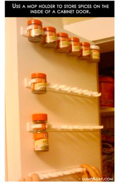 Mop Holder to Spice Rack
