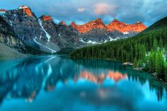 Earth Moraine Lake  Lake Mountain Canada Banff National Park Alberta Wallpaper