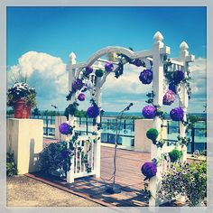 #DigbyPines #Outdoor #Wedding! #NovaScotia #Maritime #BayofFundy #Wedding #Decorations #Purple #Beautiful #Flowers #Digby #NS #Canada #PicoftheDay