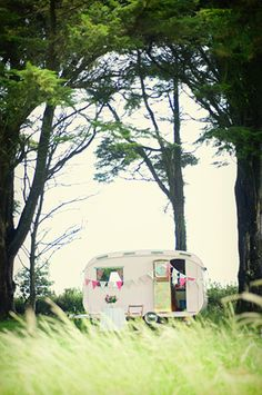 Boutique 'Glamping' in a vintage inspired caravan