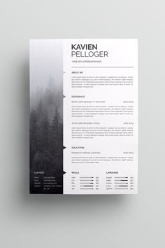 Professionally designed, easy-to-edit template package for the job seeker who wants to leave an unforgettable impression. Fast track your job search with a resume as professional, creative, and… Mise En Page Portfolio, Portfolio Web, Portfolio Design, Portfolio Resume, Resume Design Template, Cv Template, Cv Pdf, Cv Original, Graphic Design Resume
