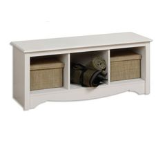 Prepac Sonoma White Cubbie Bench - traditional - furniture - by Beyond Stores Cubby Bench, Entryway Bench Storage, Bench With Storage, Cube Storage, Storage Benches, White Bench, Fabric Storage Boxes, Rental Decorating, Decorating Ideas