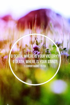 1 Corinthians 15:55 ~ O death, where is your victory, O death where is your sting...