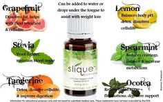Healthy way to assist weight loss! Slique Essence 100% therapeutic grade essential oil blend