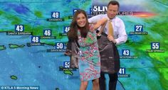 KTLA 5 anchor, Chris Burrous (pictured), immediately ran to the rescue and offered his jac...