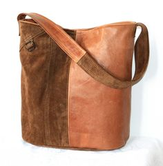 A bag made of leather from to jackets