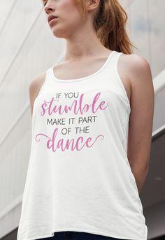 sin con hazlo para Camiseta mangas baile Vida parte espalda tropiezas de del Salsa mujer cruzada Si Ynwpgq8
