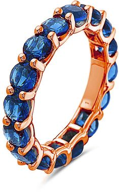 1f77d6b401664 Blue   18K Rose Gold-Plated Round Cut Ring With Swarovski® Crystals 18k Rose