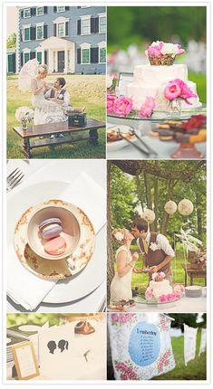 New England tea party wedding | http://www.100layercake.com/blog/2012/03/14/new-england-tea-party-wedding-kendra-mat/