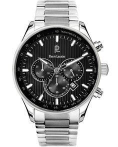 This large men\u0027s Pierre Lannier watch is made from stainless steel and is  fitted with a chronograph quartz movement. It is fastened with a silver  metal ...