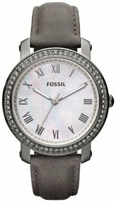 Fossil Watches, Women's Emma Leather Watch...