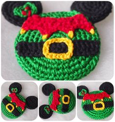 Today I want to share with you my elf. This magical creature fills your home with a fairy tale and an expectation of a miracle. Crochet elf – a magnet on a fridge, decoration on a Christmas t… Crochet Disney, Crochet Mouse, Free Crochet, Crochet Granny, Easy Crochet, Crochet Stitches, Knit Crochet, Owl Crochet Patterns, Owl Patterns