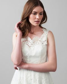 Phase Eight Selma Lace Wedding Dress Cream