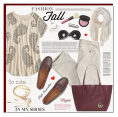 """""""Perfect Pair: Fall Loafers ^TS"""" by rosie305 ❤ liked on Polyvore featuring Lucky Brand, Chanel, Bare Escentuals, American Eagle Outfitters, Bass, Michael Kors, Saro, Moschino, oasap and aeo"""