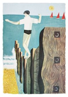 'Balancing Boy' by Robert Tavener (lithograph)