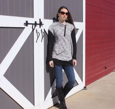 Long cotton blend knit hoodie.  Perfect for by HoodieWinks on Etsy