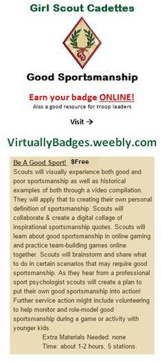 Good Sportsmanship Girl Scout Cadette Badge earned online!