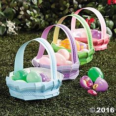 Paper Plate Easter Basket Idea