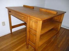 pine partners desk $100. Love this...except I would add wall shelving to the side as well.