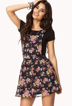 Garden Flower Overall Dress | FOREVER21. i would so rock this