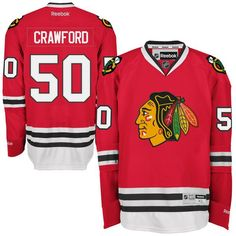 Reebok Corey Crawford Chicago Blackhawks Premier Player Jersey - Red