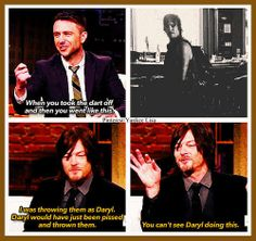 The Walking Dead Cast - Norman Reedus - Daryl Dixon and Chris Hardwick - Talking Dead