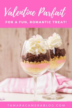 Make this fun and romantic Valentine's Day Parfait for a wonderful treat. They're perfect for a romantic meal for two, or for a whole family or party treat. Valentines Date Ideas, Valentines Surprise, Valentines Day Desserts, Valentines For Kids, Strawberry Pudding, Romantic Meals, Gel Food Coloring, Cream And Sugar, Party Treats