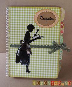 Cookbook altered notebook. Notebook recipes. Cuaderno de cocina. Libro alterado.
