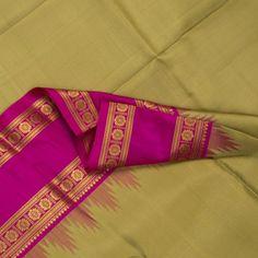 Kanakavalli Handwoven Kanjivaram Temple Border Sari : 070100211