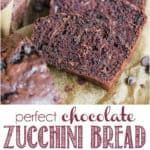 recipe for perfect chocolate zucchini bread