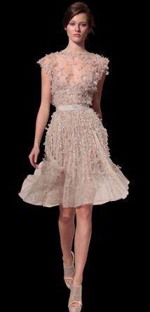 Elie Saab Haute couture short pink dress