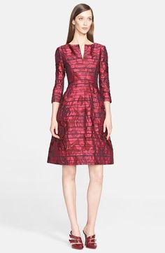 Oscar de la Renta Stripe Rose Jacquard Dress available at #Nordstrom