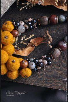 Колье, бусы ручной работы. Ярмарка Мастеров - ручная работа. Купить Колье ручной работы 'Бархатная осень'. Handmade. осень