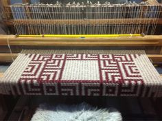 Rug, Jason Collingwood (#mr_rugweaver)  I HAVE ONE OF HIS SHAFT SWITCHING LOOMS AND IF SOMEONE COULD JUST PRY ME AWAY FROM MY iMAC I MIGHT ACTUALLY MAKE ANOTHER RUG SOME DAY!
